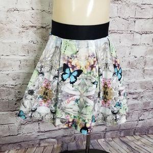 Baker by Ted Baker Girls S Butterfly Pleated Skirt